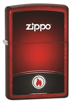 ZIPPO RED AND BLACK DESIGN