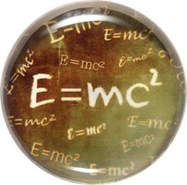 Glasmagnet Kühlschrankmagnet E=mc²