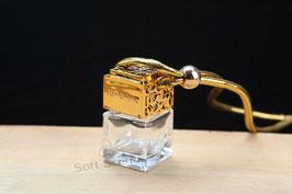 Car perfume vierkant goud incl. geur naar keuze