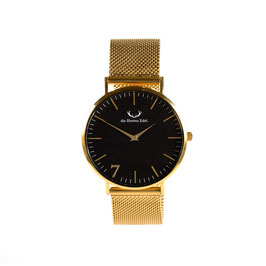 "Armbanduhr ""Se7en"" Black Gold (Meshstrap Gold) 40mm"