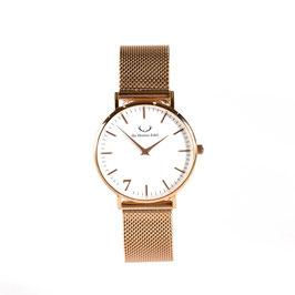 "Armbanduhr ""Se7en""  Rosé (Meshstrap Roségold) 36mm"