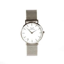 """Armbanduhr """"Se7en""""  Silver (Meshstrap Silver) 36mm"""