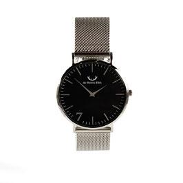 """Armbanduhr """"Se7en"""" Black Silver (Meshstrap Silber) 40mm"""