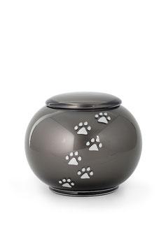 V366 Glas Urne bauchig schwarz