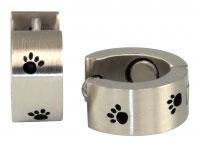E-136 Magnet Ohrring s/sw