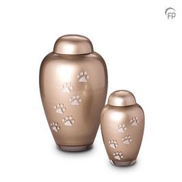 FU113-Glas Urne Pfötchen Hoch
