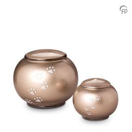 FU111-Glas Urne Pfötchen Flach