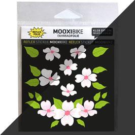 Reflektierende Fahrrad Sticker Flower Power / Blumen
