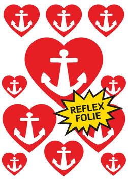 Reflective Sticker Set Herz von St. Pauli