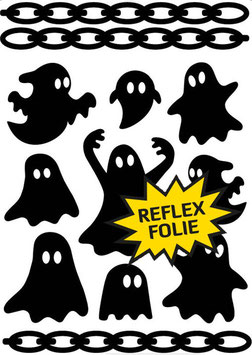 Reflective Sticker Set Ghost