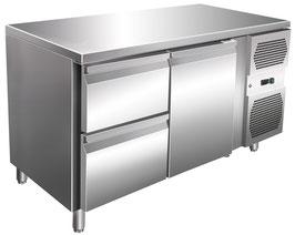 Kühltisch mit einer Tür & zwei Schubladen -45% Billiger