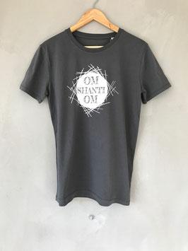 Om Shanti Om Organic Shirt Männer anthrazit
