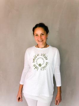 lokah samastah sukhino bhavantu 3/4 Arm Organic Shirt weiß