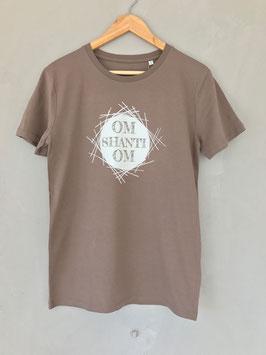 Om Shanti Om Organic Shirt Männer walnuss