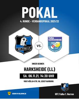 06.11.2021 Lotto-Pokal 14:30 Uhr HFC Falke - TURA Harksheide (VKS Kura II)