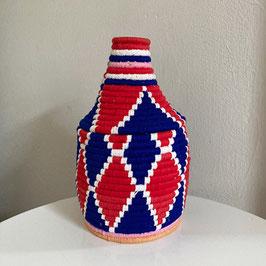Berber Korb Rot Blau