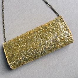 Pailetten-Clutch GOLD zum Umhängen