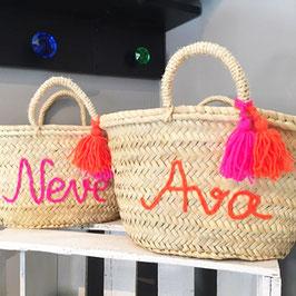 Korbtasche Kinder personalisiert mit Name
