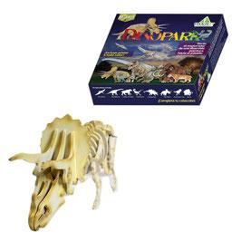 Rompecabezas 3d triceratops de madera