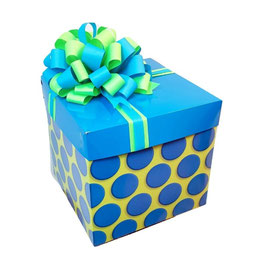 Caja de regalos puntos