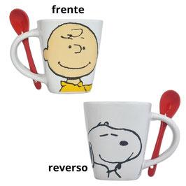 Tarro de cerámica con cuchara Peanuts