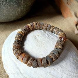 Armband aus dunklem Naturbernstein