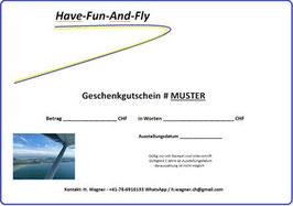 Gutschein Pilotentaufe - Schnupperflug