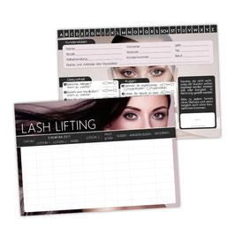 Wimpernlifting - Kunden Karteikarte