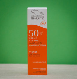Crema solar facial SPF 50 Biarritz Algamaris