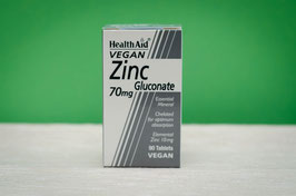 Gluconato de Zinc 70mg  Healthaid - 90 comprimidos