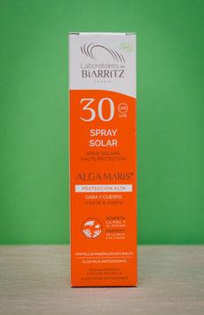 Spray solar cara y cuerpo SPF30 Biarritz Algamaris
