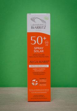 Spray solar cara y cuerpo SPF 50 Biarritz Algamaris