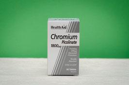 Picolinato de cromo 1800 healthaid - 60 comprimidos
