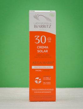 Crema solar facial SPF 30 Biarritz Algamaris
