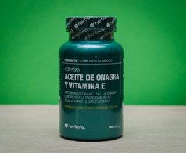 Aceite de onagra y Vitamina E  500mg Herbora - 180 perlas