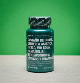 Castaño de Indias, Centella asiática, Rusco, Vid roja, Hamamelis, Bioflavonoides cítricos y Vitamina C Herbora - 60 cápsulas