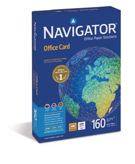 PAQUETE FOLIOS A4 NAVIGATOR OFFICE CARD 160 gr
