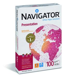 PAQUETE FOLIOS A4 NAVIGATOR PRESENTATION 100 gr