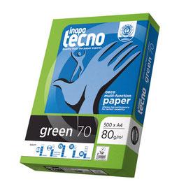 PAQUETE FOLIOS RECICLADOS A4 INAPA TECNO GREEN 80 gr
