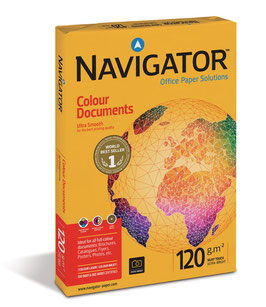 PAQUETE FOLIOS A4 NAVIGATOR COLOUR DOCUMENTS 120 gr