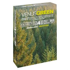 PAQUETE FOLIOS RECICLADOS A4 VENUS GREEN  80 gr