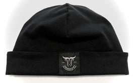 Dörpwicht Bio-Mütze Kuschelsweat schwarz