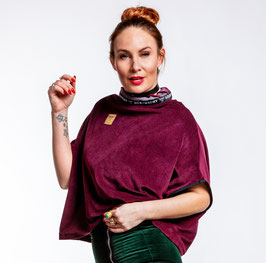 Zero Waste Organic Cord Nicki bordeaux ONE SIZE