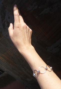 """Bracelet argent et vis """"en ronds"""""""