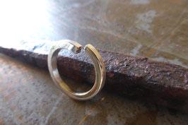 Bague mixte en argent fil carré anneau ouvert