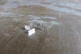 Boucles d'oreille clous barre en argent