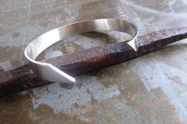Bracelet argent réglable à entaille pour homme ou mixte