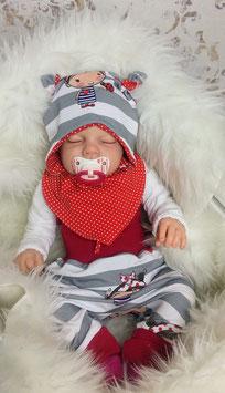 Babyset Pumphose Mütze Halstuch Frl. Käferherz