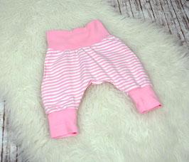 Babyhose Pumphose Hose Streifen rosa-weiß