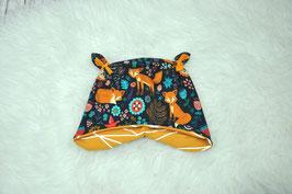 Babymütze Ohrenmütze Knotenmütze Fuchs